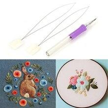 Волшебная ручка для вышивания игла инструмент для плетения причудливая строчка маркеры крестиком водостираемые ручки DIY Инструменты для шитья