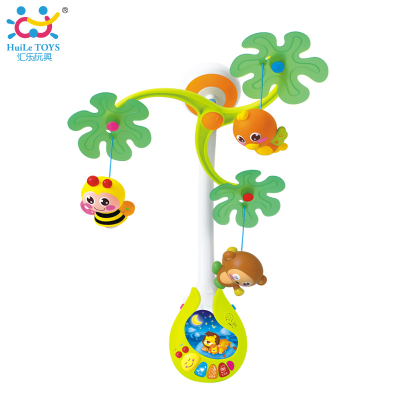 Baby Rotate Musical Jungle Baby Mobile Nursery Cot Crib Mobile Multi Function with Lights font b