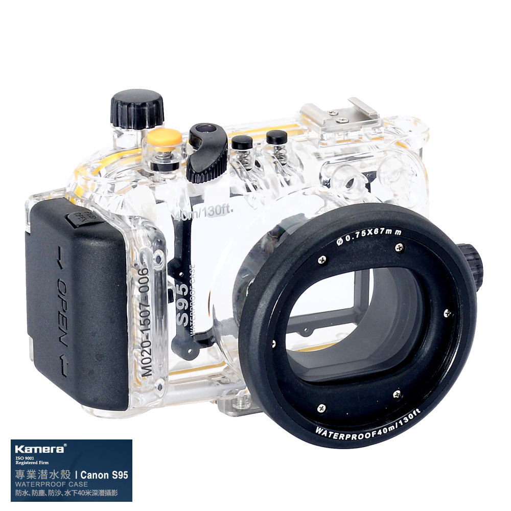Waterproof Underwater Housing Camera  Case for Canon Powershot S95 Lens WP-DC38 65 95 55mm waterproof case