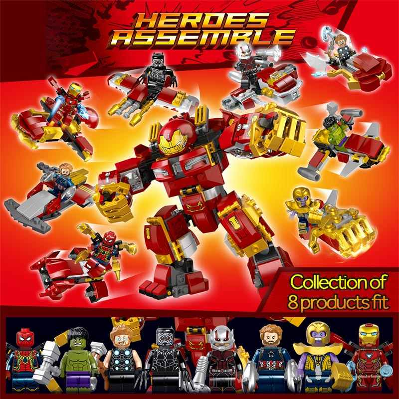 566pcs  Marvel Avengers Infinity War Building Blocks Toy Kit DIY Educational Children Christmas Birthday Gifts