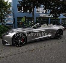 Атласная хромированная металлическая серая молния виниловая Автомобильная обертка с воздушным пузырьком, покрытие автомобиля с воздушным выпуском 1,52×20 м/4.98x66ft