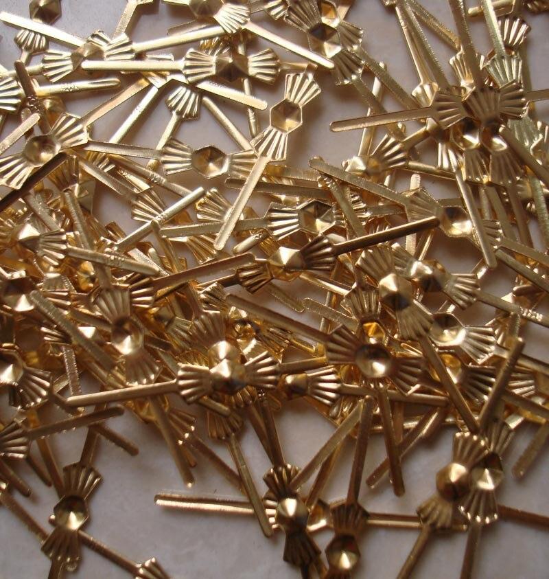 Best Price 100pcs Gold Bowtie Pins Connectors Crystal Prisms Of Chandelier Lamp Parts Connectors Accessories For Glass Pendants