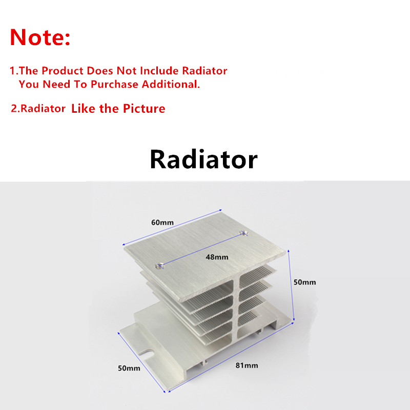 10A/25A Single phase solid state relay SSR-10DA/25DA MGR-1 D4810/D4825 DC control AC 3-32VDC TO 24-480VAC With Protective Covers