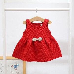 Image 2 - 아기 소녀를위한 크리스마스 복장 파티 공주 복장 가을 겨울 유아 어린이 결혼식 아기 소녀 복장 0 2 년
