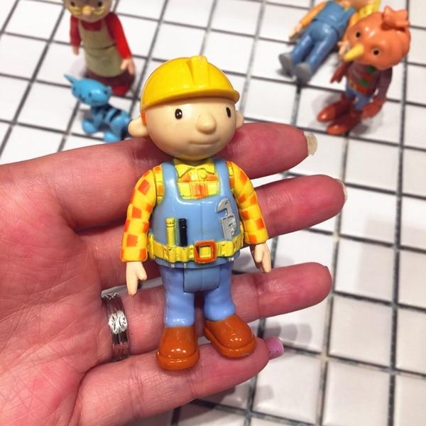 1pcs 7cm Cartoon Anime Fireman Sam Bob The Builder Action Figures Dolls Kids PVC Education Model For Collection Toy D11