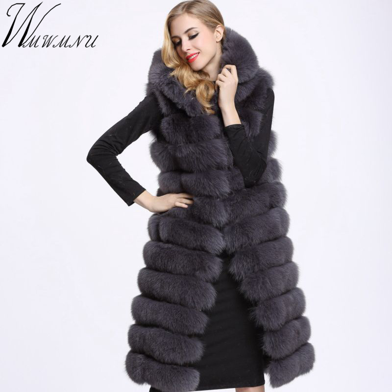 Wmwmnu Winter Warm Vest New Arrival Fashion Women Coat Fur Vest luxurious Faux Fur Coat Fox Fur X-Long Vest Plus Size S-4XL a6 spiral notebook diary notepad dokibook business leather loose leaf notepad school office supply customized logo