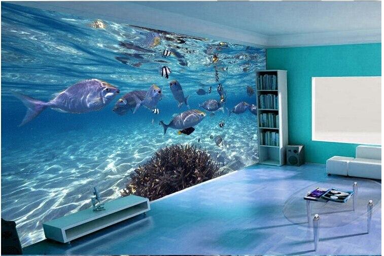 Fototapete kinderzimmer unterwasserwelt  Aliexpress.com : Individuelle fototapeten 3D stereoskopischen ...