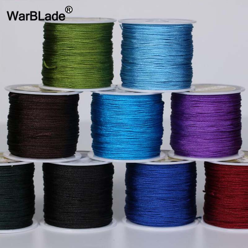 24 Color 100M 0.8mm 1mm 1.5mm 2mm Cotton Cord Nylon Cord Thread String For Jewelry Making DIY Tassels Beading Braided Bracelet