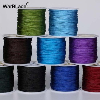 24 Color 100M 0.8mm 1mm 1.5mm 2mm Cotton Cord Nylon Thread String For Jewelry Making DIY Tassels Beading Braided Bracelet - discount item  41% OFF Jewelry Making