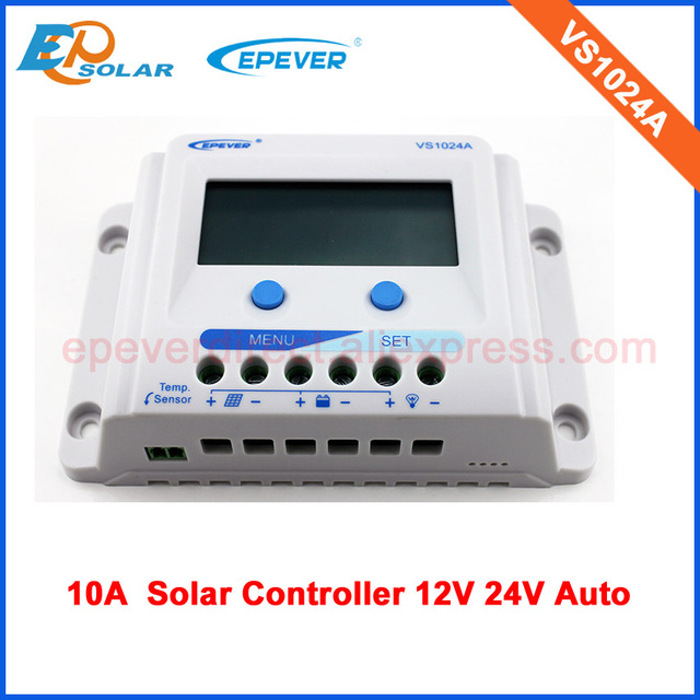 EPsolar PWM solar regulator lcd display 10A VS1024A for 12v/24v auto type