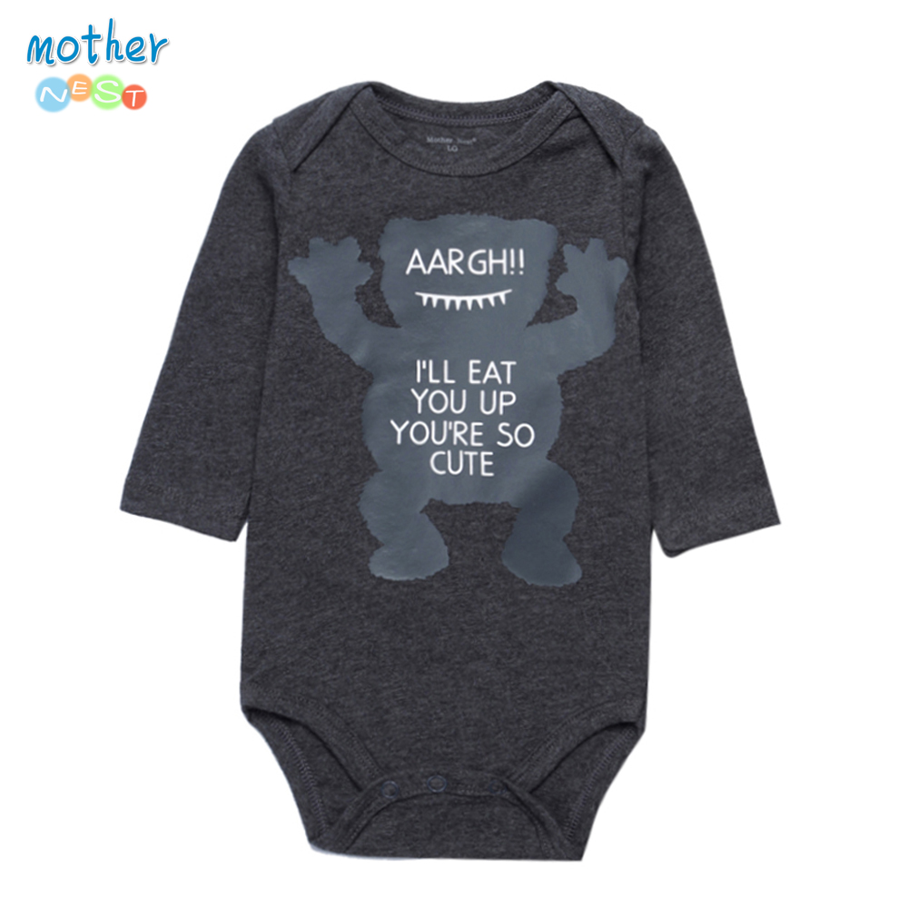 Mother Nest New Fashion Autumn Baby Romper Boy Newborn Clothes Romper Full Sleeve Infant Baby Rompers Character Print baby rompers clothing new fashion autumn newborn baby boy long sleeve baby set barboteuse clothes gentleman infant pajama