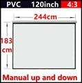 120 Дюймов 4:3 матовый белый ручной портативный проектор экран с 1.1 усиления проекционный экран Проектор Настенный Матовый Белый