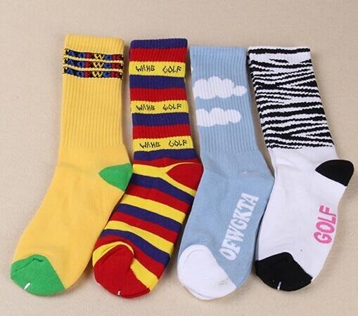 76cbf9346fd0fc Odd Future Socks OFWGKTA Golf Wang Striped Cloud Tiger Crew Socks Double  Layer Thicker Terry Socks