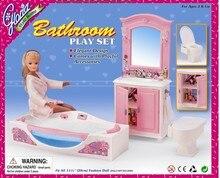 Original bad für barbie puppe waschbecken zubehör bad badewanne wc bad barbie möbel set 1/6 bjd puppe spielzeug