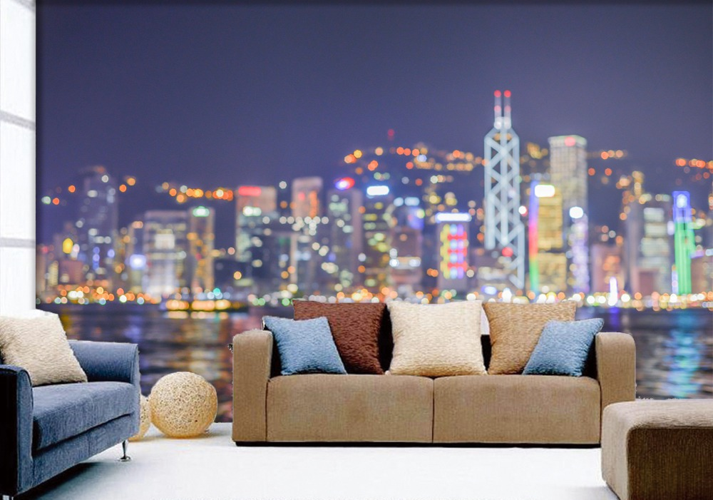 [Self-Adhesive] 3D City Night Scene 052 Wall Paper Mural Wall Print Decal Wall Murals