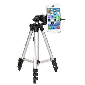 Image 4 - ארבעה רצפת גבוהה מקצועי אלומיניום חצובה Stand מחזיק + טלפון מחזיק + ניילון לשאת תיק עבור iPhone X 8 סמסונג smartphone