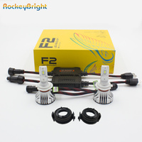Rockeybright 12000lm 72w H7 led Headlight + Bulb Adapters Holders For BMW E46 325ci 325i 330ci 330i M3 328Ci 323i led H7 Adapter