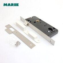 ML003 Stainless Steel Single Point Mortise Lock Body Door Handle locking Door Lockcase цена