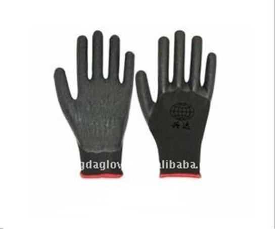 Free Shipping!wholesale12 pairs/dozen13 gauge nylon  latex coated crinkle working gloves/safety protective gloves/
