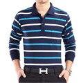 2017 New Arrival 100% Cotton Men's Striped Polo Shirt Long Sleeve Brand Men Casual Polo Shirt Big Size Shirt Tops & Tees 7010