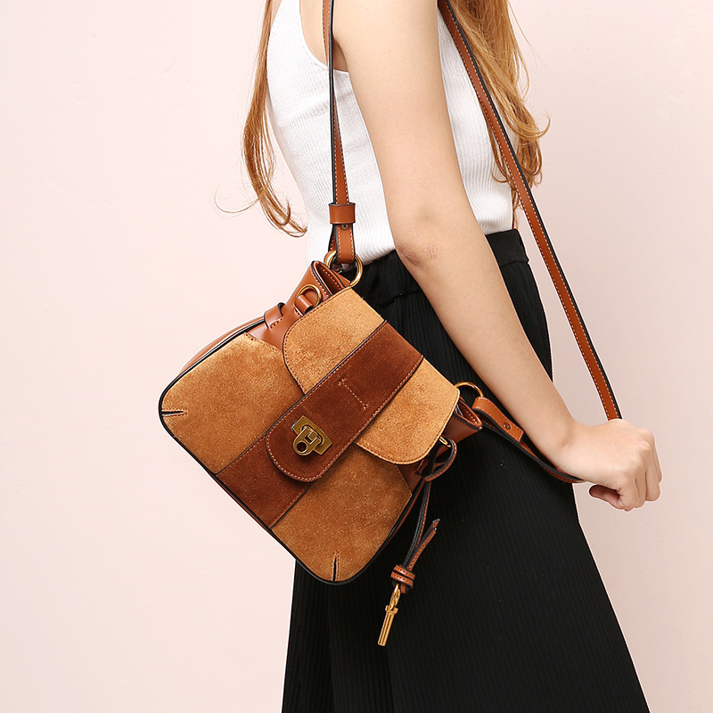 Free Shipping MIWIND Fashion Handbags Famous Brand Bags High Quality Buckle Handbags Women Genuine Leather Shoulder Bag WU2643 miwind new fashion leather handbags high quality women shoulder bags buy one get another free full set 6 pieces more favorable