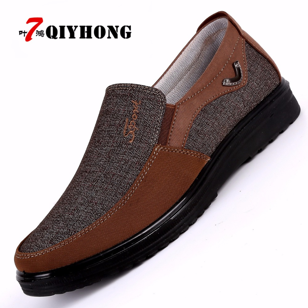 2018 New Arrival Spring Summer Comfortable Casual Shoes Mens Canvas Shoes For Men Comfort Shoes Brand Fashion Flat Loafers Shoe(China)