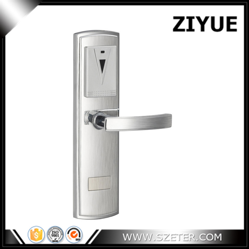 Hotel Guest room  Card Lock Management Software RF Door Lock Hotel Lock Card Lock Factory ET105RF elegant streamline design card intelligent hotel door lock work with manage software apply dhl shipping
