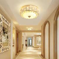 Luces de techo de cristal europeo luz de pasillo de balcón para dormitorio luces de techo de cristal de iluminación de techo
