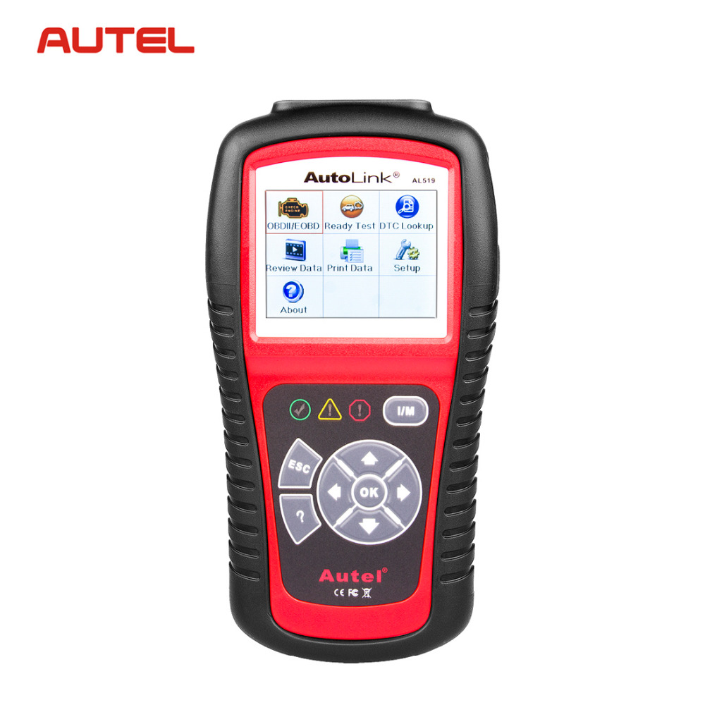 Autel AutoLink AL519 519 OBD2 EOBD Car Fault Code Reader Scanner Automotive Diagnostic Scan Tool Escaner Automotriz Automotivo 100% original autel autolink al519 code reader obdii eobd can scan tool updated online autolink al519 scanner free shipping