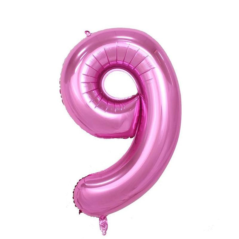 32 дюйма розовый синий 40 дюймов красный фольгированный шар большой гелиевый номер 0-9 Globo день рождения для детей Вечеринка мультфильм шляпа Декор