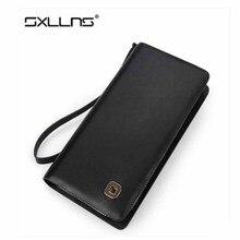 2016 Hot Men Wallet Famous Brand Mens Wallet Leather Genuine Luxury Large Capacity Zipper Business Purse Clutch Bags Man wallet