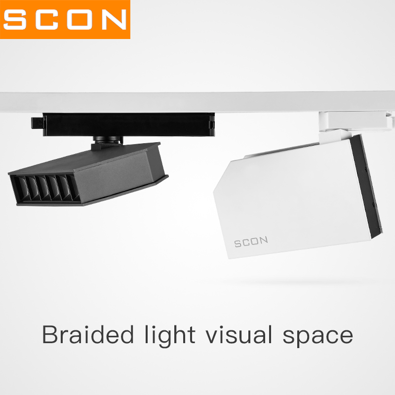 SCON 18W 3Wire Track lamp With 6pcs LED OSRAM Clothing Store Surface Mounted Spotlight 4000k Commercial indoor lighting Ra >93-in Track Lighting from Lights & Lighting