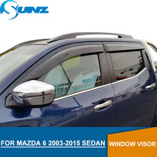 цена на For Mazda 6 2003-2015 Black Window Visor For Mazda 6 2003 2004 2005 2006 2007 2008 2009 2010 2011 2012 2013 2014 2015 SEDAN SUNZ