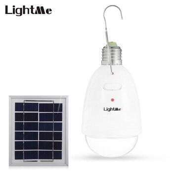 Lightme 12 LEDs Dimbare Zonnepaneel Powered Light Lamp met Afstandsbediening voor Yard Camping Wandelen Outdoor Gebruik
