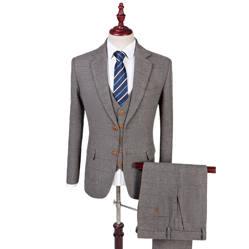 Leotopcostume Blazer Wedding Suits For Men 3 Piece