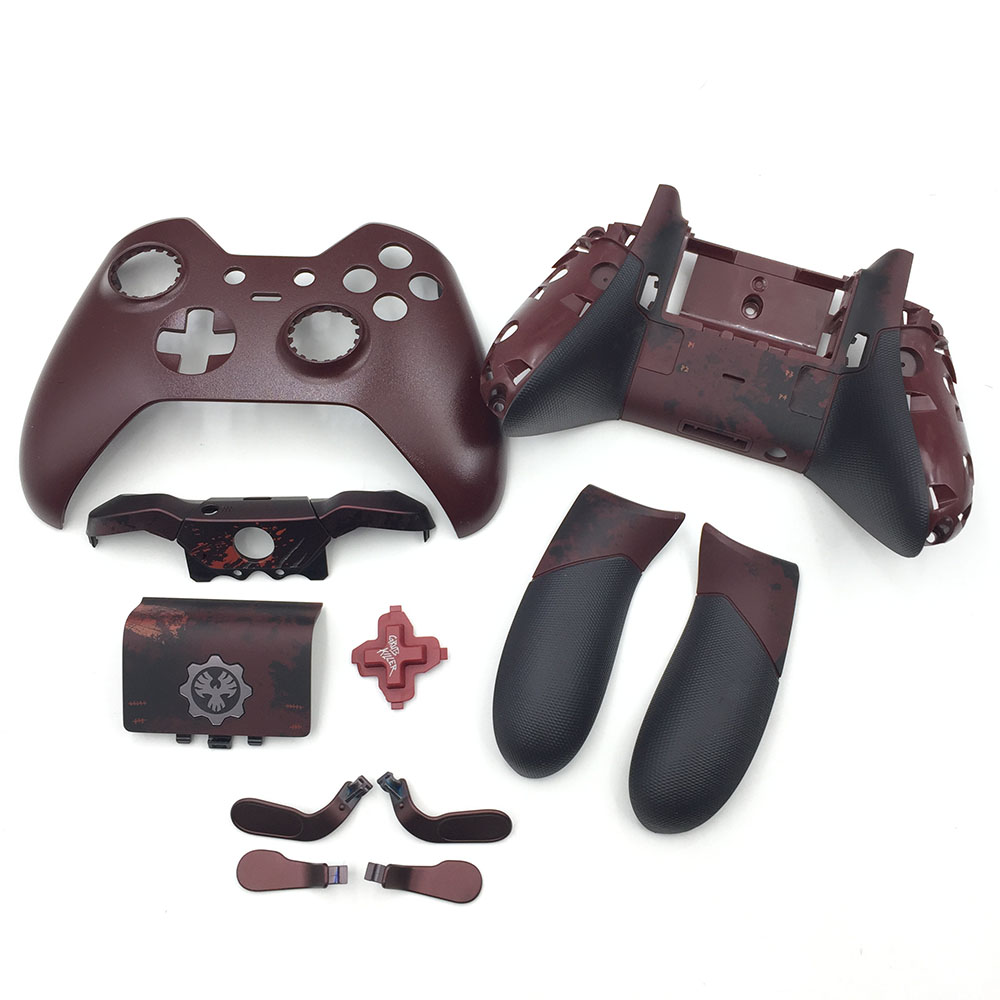 US $46 12 5% OFF|Customer Design Used Matte For Xbox one Elite Controller  Housing Shell LB RB Bumper Button Back Case Rubberised Grips-in Replacement