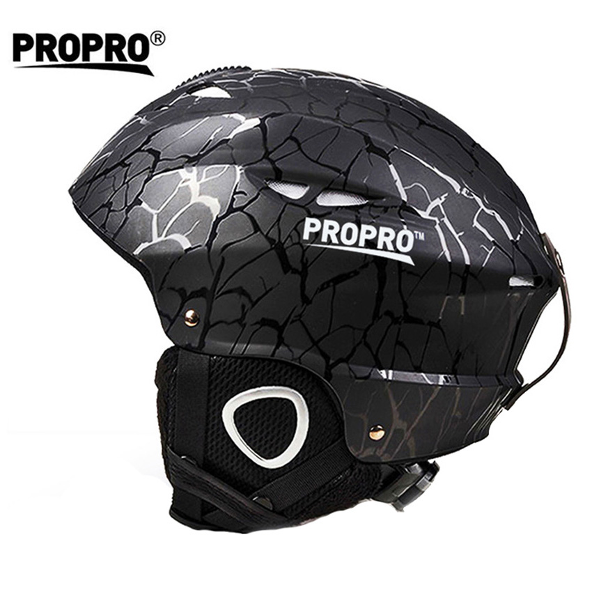 Propro Men's Women's Half-covered Skiing Helmets Outdoor Sport Integrally-Molded Snowboard Skateboard Skating Ski Helmet VK035 rockbros pc eps skiing helmets ultralight integrally molded skating ski helmet snowboard thermal skateboard helmets sport safety