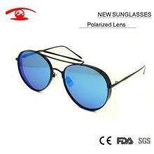 2016 New Luxury Fashion Round Frame Polarized Sunglasses Women Brand Designer Men Retro Vintage Gentle Glasses Oculos De Sol