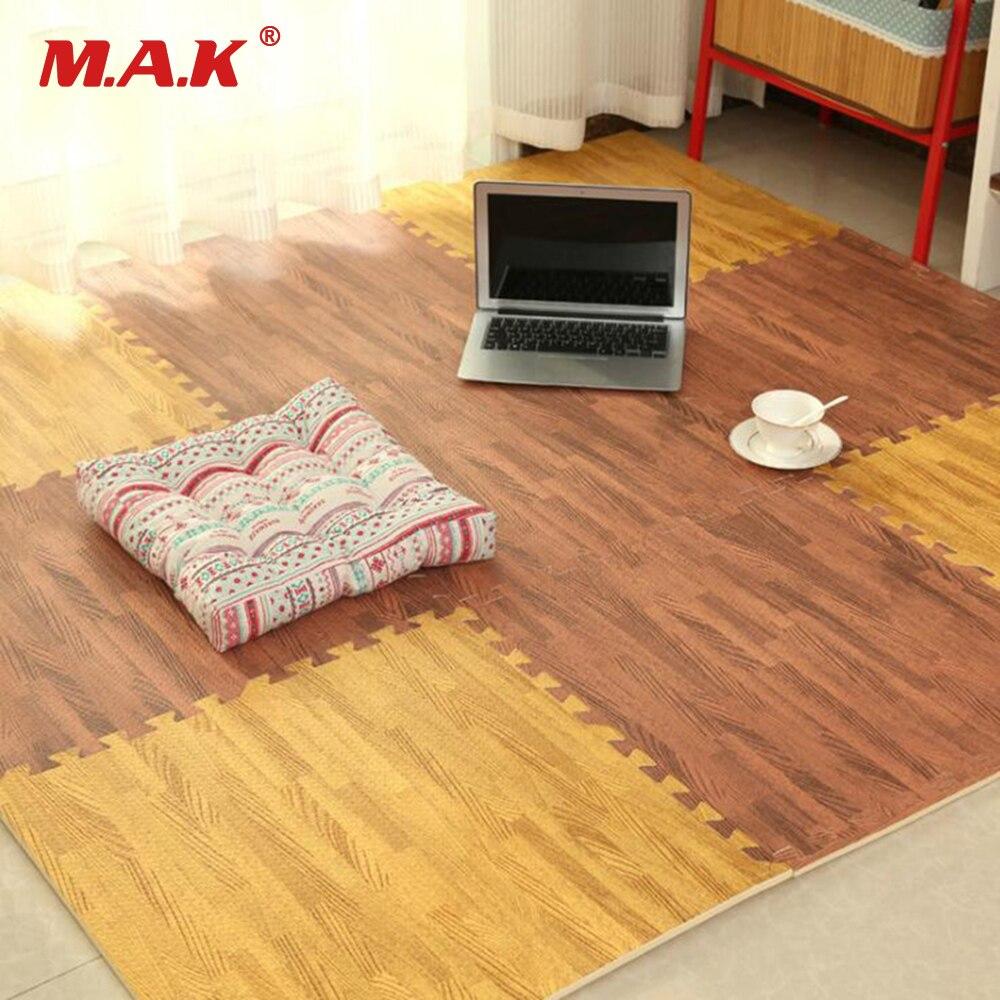 In Stock 6pcs/set EVA Foam Baby Play Mat Wood Grain Playmat Interlocking Exercise Gym Floor Waterproof Rug Crawling Mat