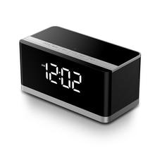 Bluetooth speaker alarm clock heavy subwoofer on-board wireless mobile computer sound card Udisk player radio metal modern style