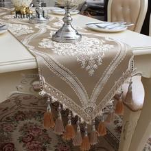 JaneYU Tablecloth High-grade Luxury Tea Table Flag Fashion Fabric Cabinet table runner