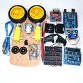 Nova Fuga de rastreamento Motor Inteligente Robot Car Kit Chassis Velocidade Encoder Caixa de Bateria 2WD Ultrasonic módulo Para Arduino kit