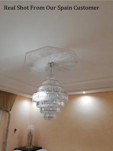 Image 4 - Lámpara de araña de cristal francés con diseño de Imperio Dorado, candelabros cromados, modernos, envío gratis