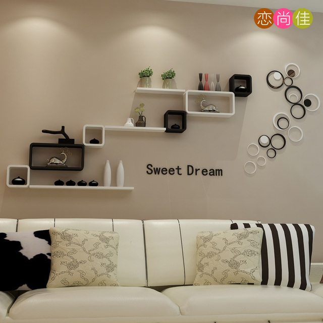 Backdrop Bedroom Wall Shelf Decorative Frame Clapboard Wall Mount