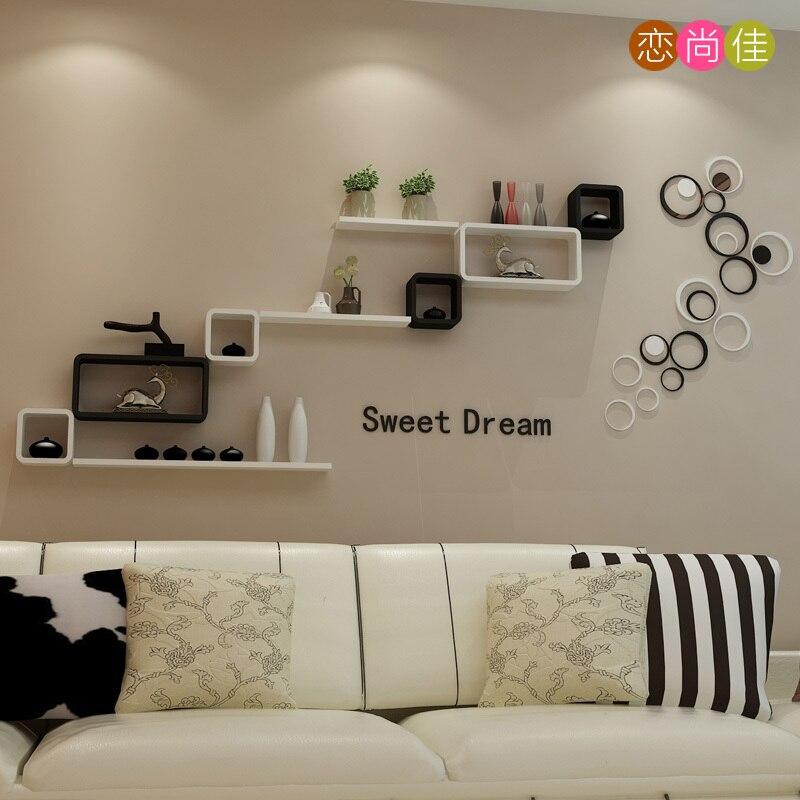 Achtergrond slaapkamer wandplank decoratieve frame for Bed in de muur