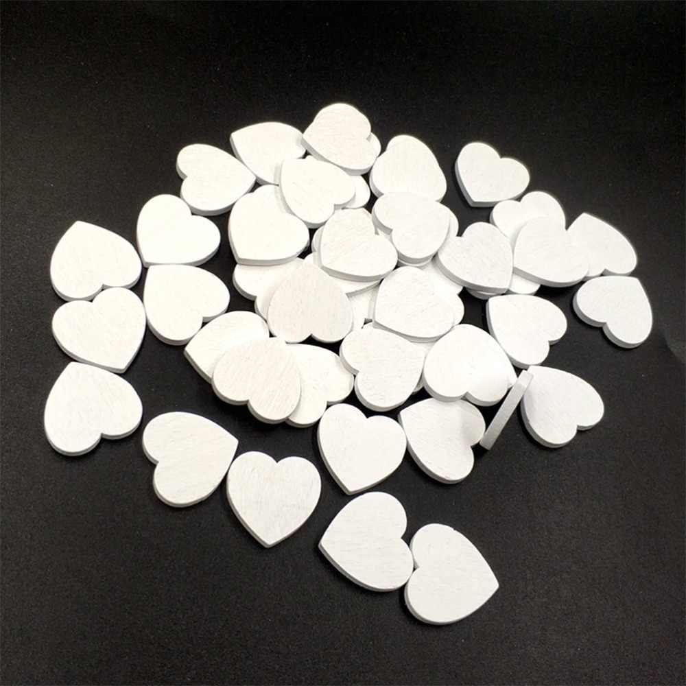 100 Adet Kalp Sekilli Dogal Ahsap Cip Diy Bos Kalp Ahsap Dilimleri