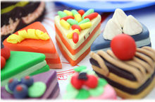 Novelty Cake Set Model Play Dough Plasticine to Play Creative Handmade DIY Toy Plasticine for Children