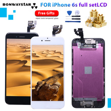 For iPhone A1633 A1688 A1700 LCD AAAAA Touch Module Display full set Assembly For iPhone 6s with Camera+sensor lcd