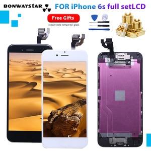 Image 1 - Para o iphone a1633 a1688 a1700 lcd aaaaa módulo de toque display conjunto completo montagem para iphone 6s com câmera + sensor lcd
