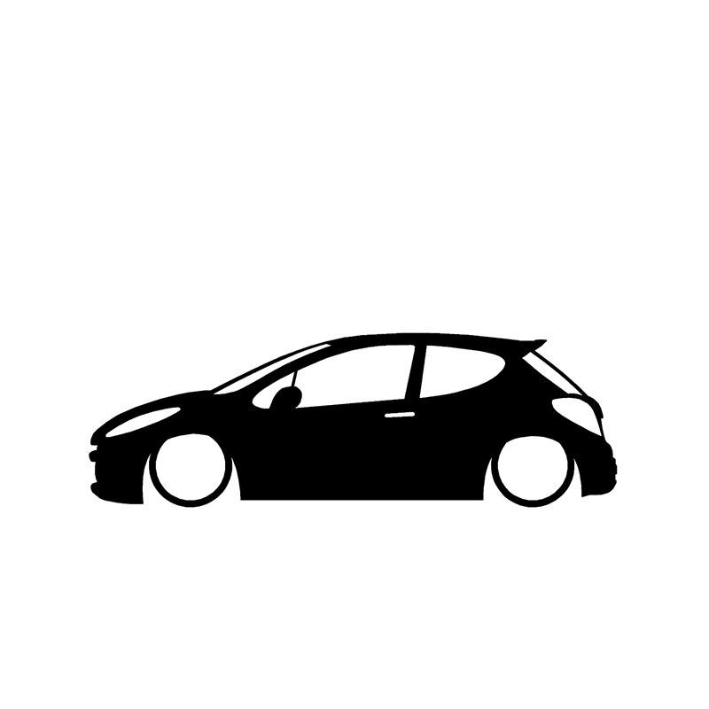 Low  for Peugeot 207 Gti / Rc Pug Outline Stickers / Decals maserati granturismo carbon spoiler